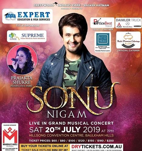 Sonu Nigam Concert 2019 in Sydney