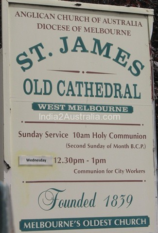 St James' Old Cathedral in Melbourne