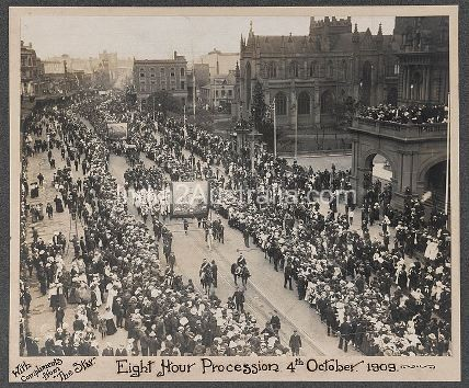 EIGHT HOUR DAY PROCESSION 1909
