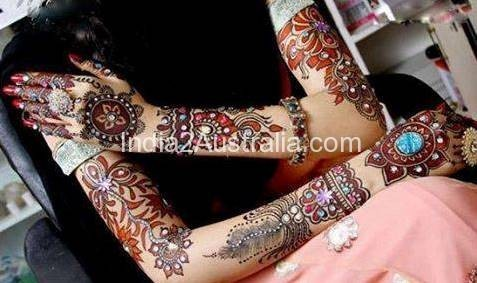 mehndi with other colours