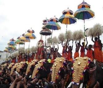 Trichur Elephant procession