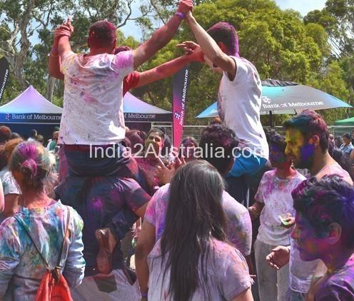 Holi Bundoora Park 2014