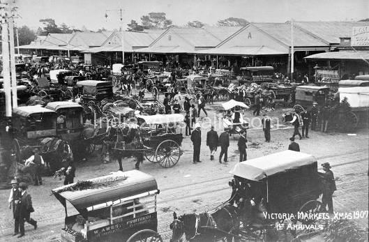 Queen victoria market 1907
