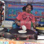 Temporary Dosa stall at Sri Lankan Fest in Queen Victoria Market