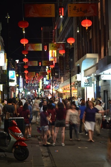 at the China town