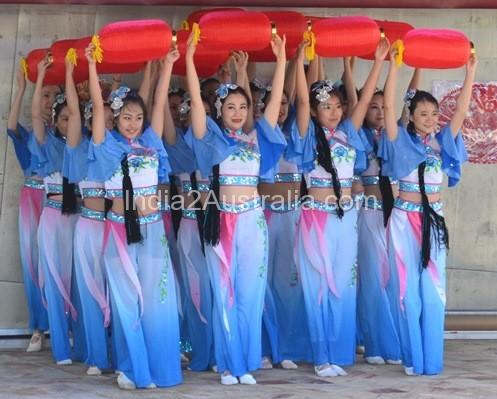 Chinese lantern dancers