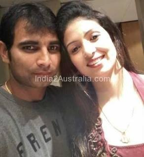 Mohammed Shami with wife Hasin Jahan