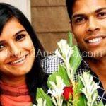 Umesh Yadav with wife