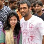 Dhoni and wife Sakshi