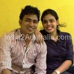 Pankaj Saw with his wife