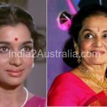 Bolllywood actress Asha Parekh now and then photos