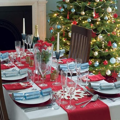 Christmas table decorations1