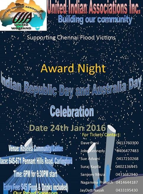 Republic day celebration united Indian Association inc
