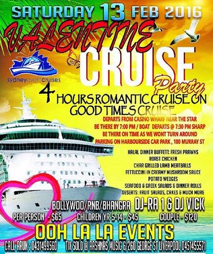 Valentines day Boat Cruise sydney