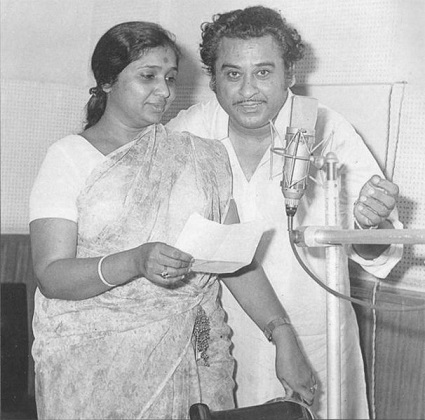 Asha Bhosle and Kishore kumar
