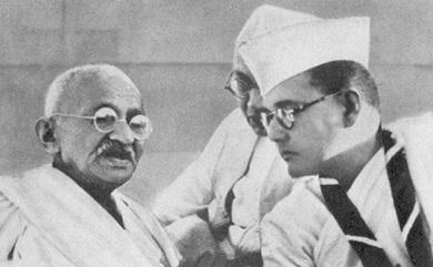 Gandhiji and SUbhas chandra bose