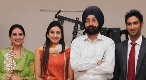 Gurkeerat Singh Mann family photo