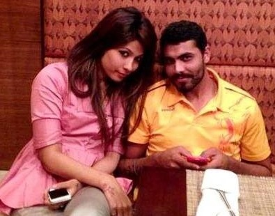 ravindra jadeja with girlfriend chetna jha