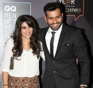 rohit sharma and wife Ritika Sajdeh