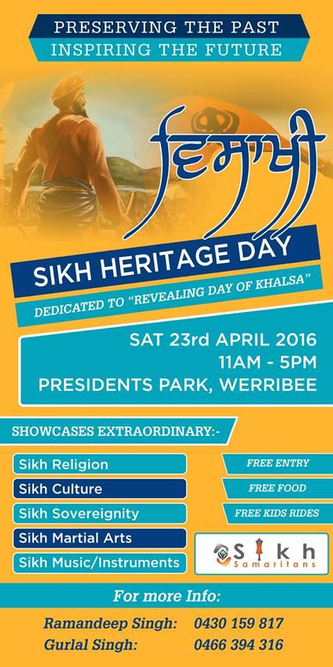 Sikh heritage day werribee