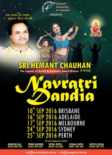 Hemant Chauhan Navratri Dandiya in Melbourne, Sydney and Perth
