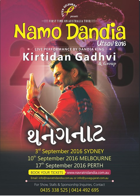 kirti Dhav Namo Dandiya in Melbourne , Sydney and Perth