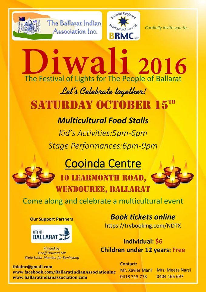 Diwali Celebrations in Ballarat 2016
