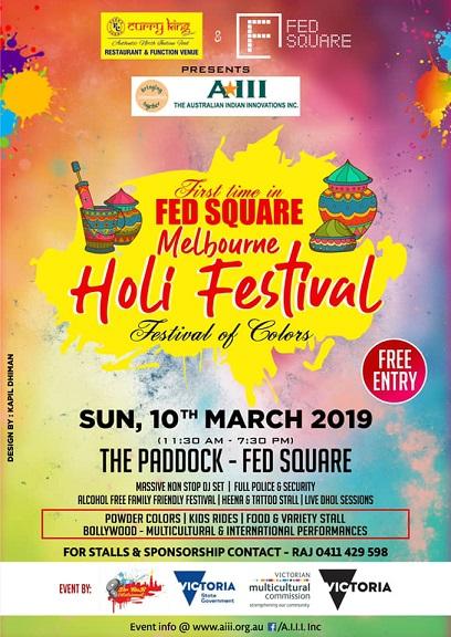 Holi Celebrations in Melbourne 2019