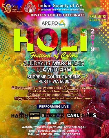 Holi Celebrations in Perth 2019